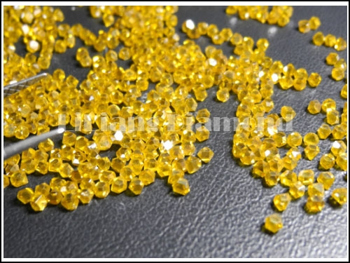 Yellow Industrial or Gem Purpose Synthetic Large Size Rough Diamond