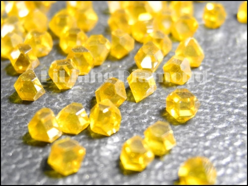 Large Size HTHP Synthetic Single Crystal Yellow Diamond