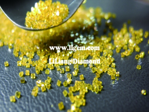 Industrial HTHP Synthetic Yellow Rough Loose Diamond for Cutting Dressing
